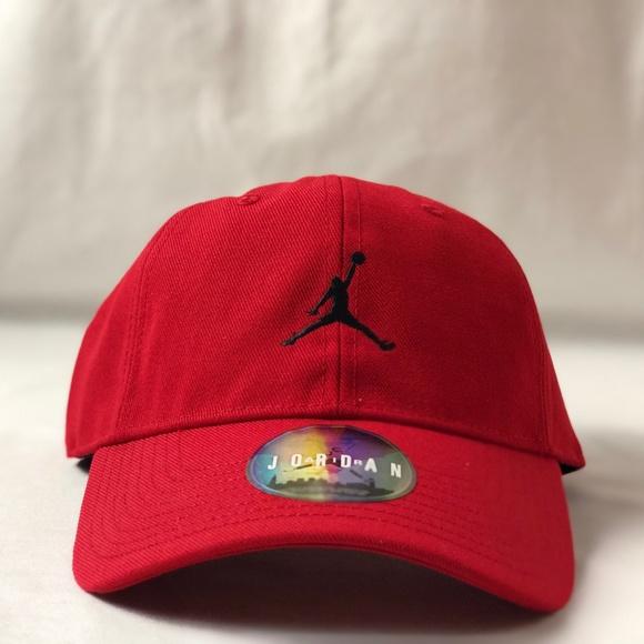 finest selection 00281 9f499 Jordan Jumpman H86 Red Adjustable Hat.